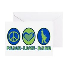 PEACE - LOVE - BAND Greeting Cards (Pk of 10)
