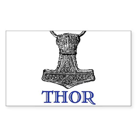 THOR (Hammer) Rectangle Sticker