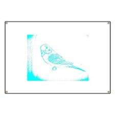 White and Blue Parakeet Banner