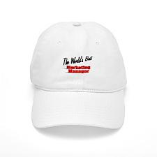 """ The World's Best Marketing Manager"" Baseball Cap"