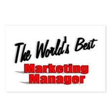 """"""" The World's Best Marketing Manager"""" Postcards (P"""