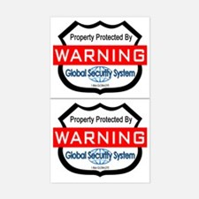 Fake Security Sticker, 2 Stickers (Rectangle)