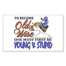 Old & Wise = Young & Stupid Stickers