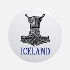 ICELAND (THOR'S HAMMER) Ornament (Round)