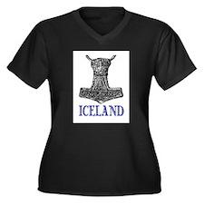 ICELAND (THOR'S HAMMER) Women's Plus Size V-Neck D