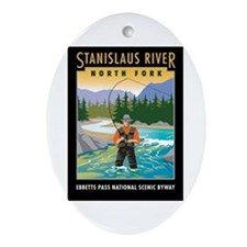 Stanislaus River - Oval Ornament