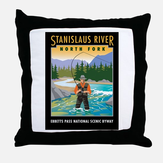Stanislaus River - Throw Pillow