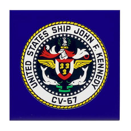 USS John F. Kennedy CV-67 Tile Coaster
