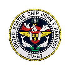 """USS John F. Kennedy CV-67 3.5"""" Button"""