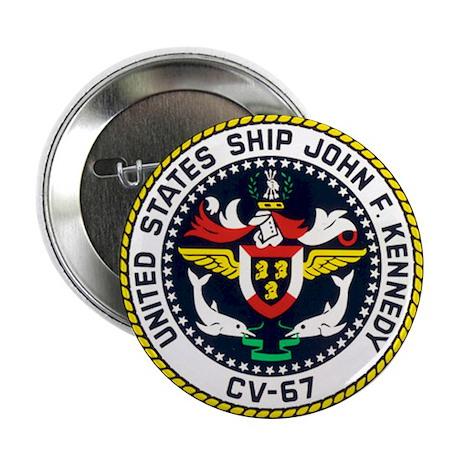 """USS John F. Kennedy CV-67 2.25"""" Button (10 pack)"""