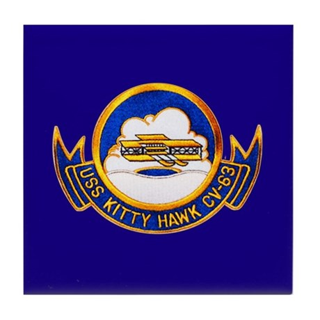 USS Kitty Hawk CV-63 Tile Coaster