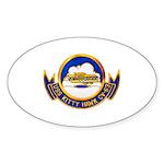 USS Kitty Hawk CV-63 Oval Sticker (10 pk)