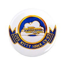 "USS Kitty Hawk CV-63 3.5"" Button"