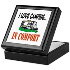 I Love Camping In Comfort Keepsake Box