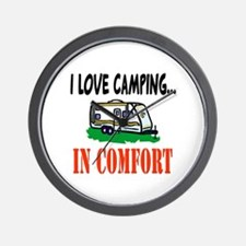 I Love Camping In Comfort Wall Clock