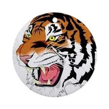 Siberian Wild Tiger Art Ornament (Round)