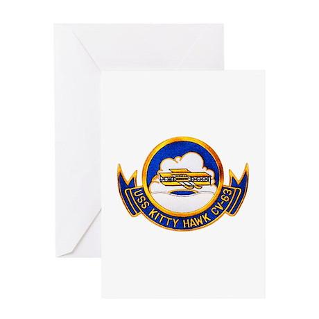 USS Kitty Hawk CV-63 Greeting Card