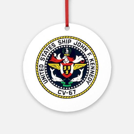 USS John F. Kennedy CV-67 Ornament (Round)