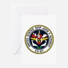 USS John F. Kennedy CV-67 Greeting Card