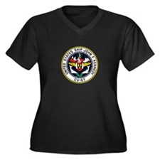 USS John F. Kennedy CV-67 Women's Plus Size V-Neck
