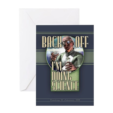 Back Off - I'm Doing Science Card