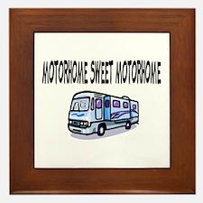 Motorhome Sweet Motorhome Framed Tile