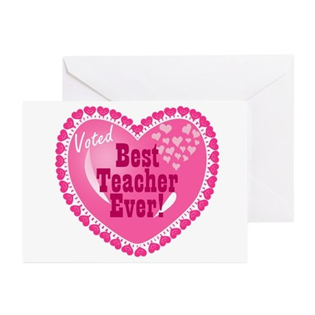 Voted best teacher ever greeting cards pk of 10 by mblemz for Best holiday cards ever