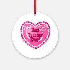 Voted Best Teacher EVER Ornament (Round)