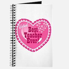 Voted Best Teacher EVER Journal