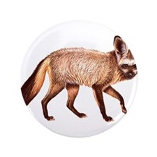 """Bat Eared Fox Animal 3.5"""" Button"""