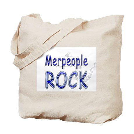 Merpeople Rock Tote Bag