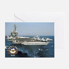 USS Kitty Hawk CV-63 Greeting Card