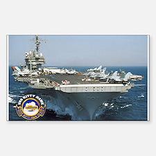 USS Kitty Hawk CV-63 Rectangle Decal