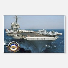 USS Kitty Hawk CV-63 Rectangle Sticker 10 pk)