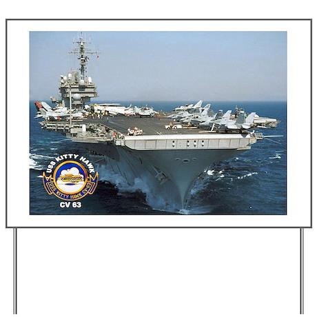 USS Kitty Hawk CV-63 Yard Sign