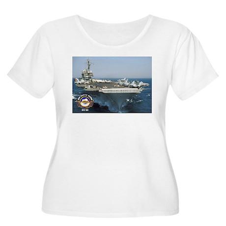 USS Kitty Hawk CV-63 Women's Plus Size Scoop Neck