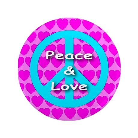 "Peace Symbol 3.5"" Button (100 pack)"