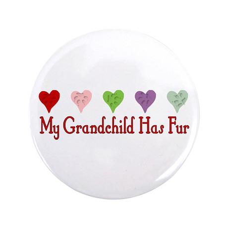 """Furry Grandchild 3.5"""" Button"""