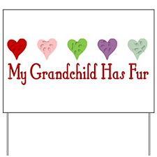 Furry Grandchild Yard Sign