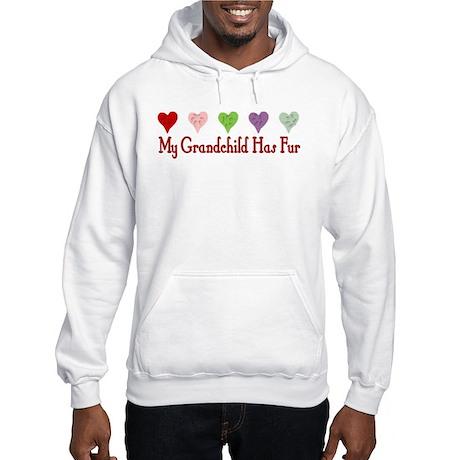 Furry Grandchild Hooded Sweatshirt