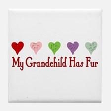 Furry Grandchild Tile Coaster