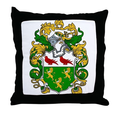 Rooney Family Crest Throw Pillow