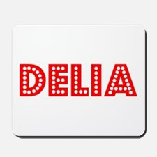 Retro Delia (Red) Mousepad