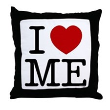 I LOVE ME --- RIFFRAFFTEES.COM Throw Pillow