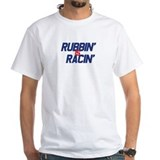 Rubbin is racing Mens White T-shirts