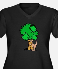 Kangaroo Tree Hugger Women's Plus Size V-Neck Dark