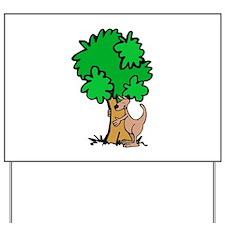 Kangaroo Tree Hugger Yard Sign