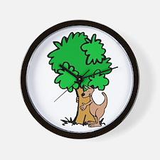 Kangaroo Tree Hugger Wall Clock