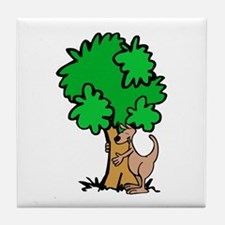 Kangaroo Tree Hugger Tile Coaster