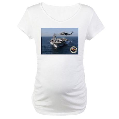 USS John F. Kennedy CV-67 Maternity T-Shirt